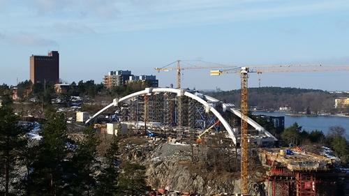 Kvarnholmsbron bygge